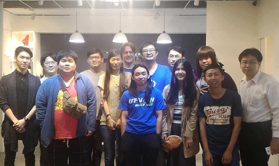 The participants of John's second front-end dev talk in Taipei.