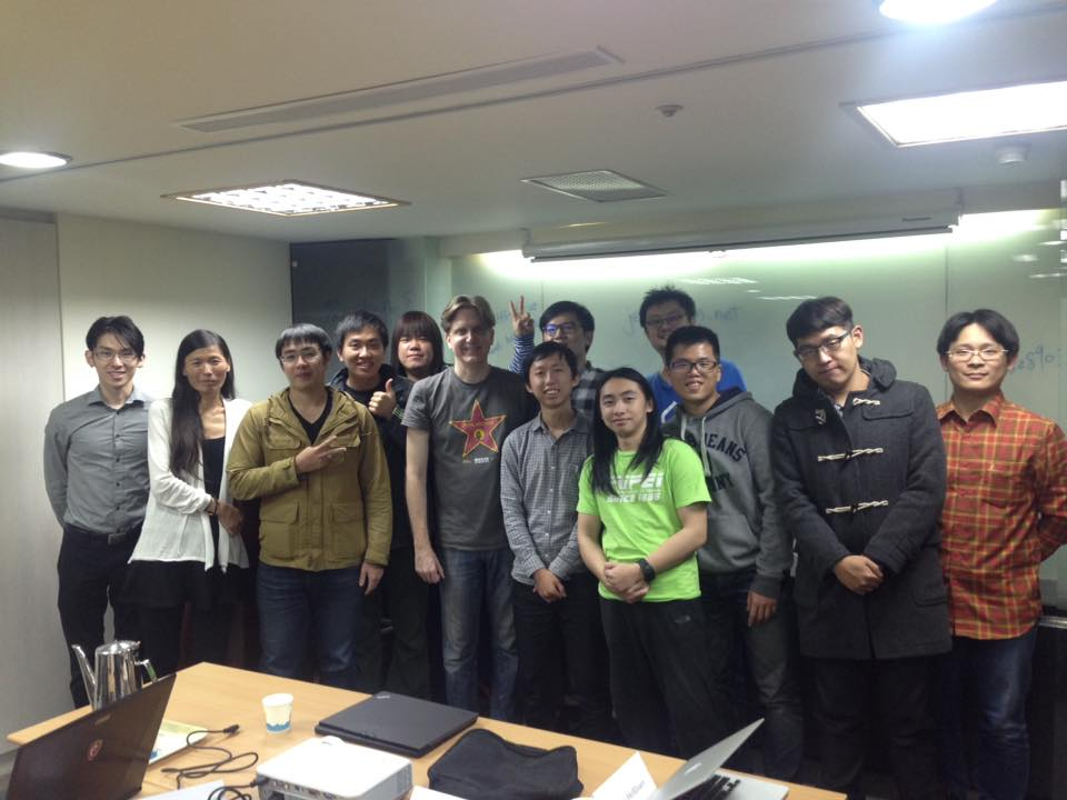 The participants of John's first front-end dev talk in Taipei.