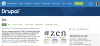 "Screenshot of Drupal.org showing the Zen project homepage with its Chinese character for ""zen"""